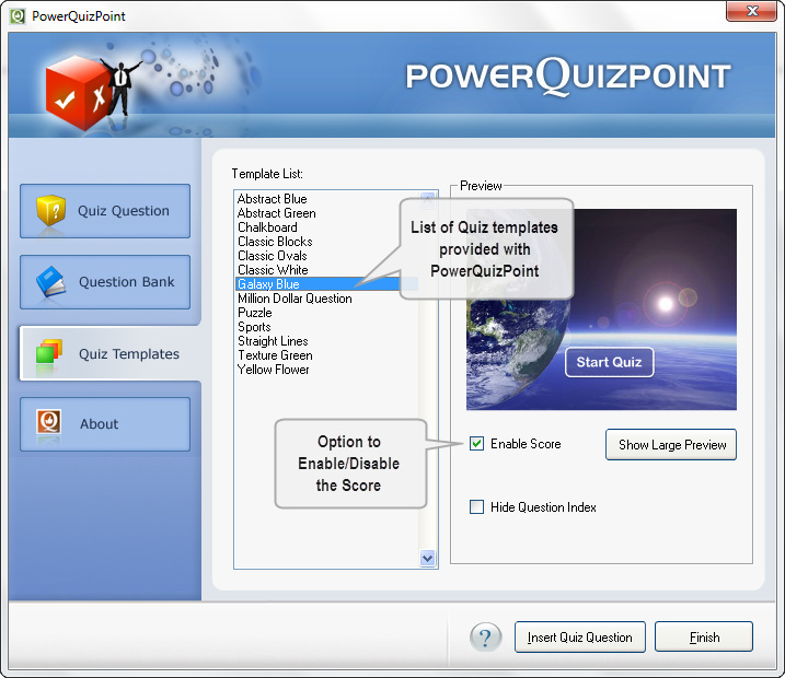 Quiz creator powerquizpoint quiz maker working create for Flash powerpoint presentation templates
