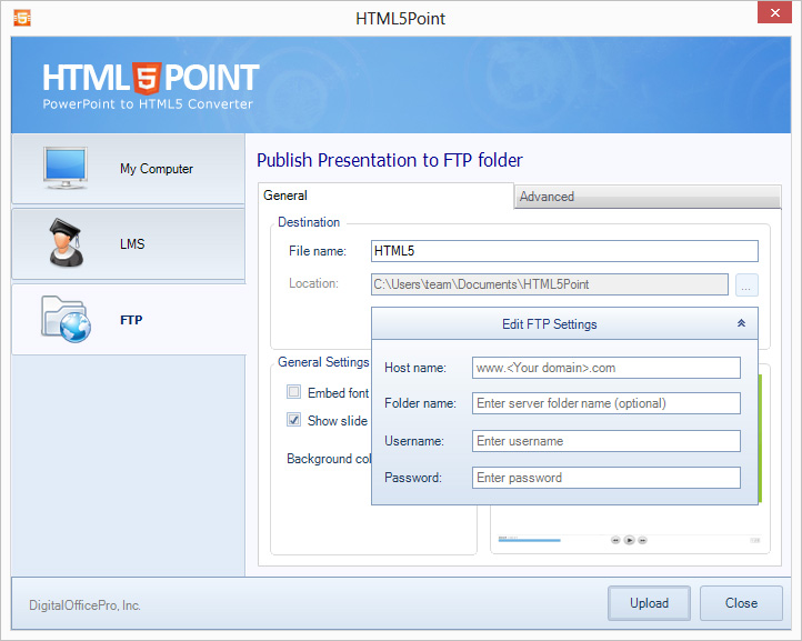 html5point ftp