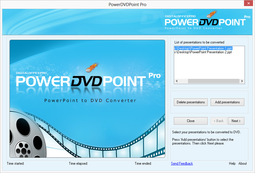 Add Presentation in PowerDVDPoint