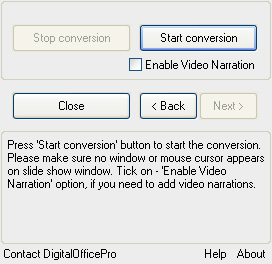 Enable Video Narration
