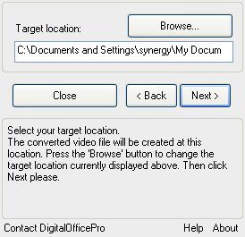 Choose Output Location